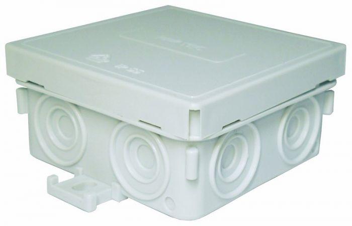 Puszka PFRAD 7575 75x75x37mm IP54/55 n/t, 7 wpustów | 05100039 050181 Protec.class
