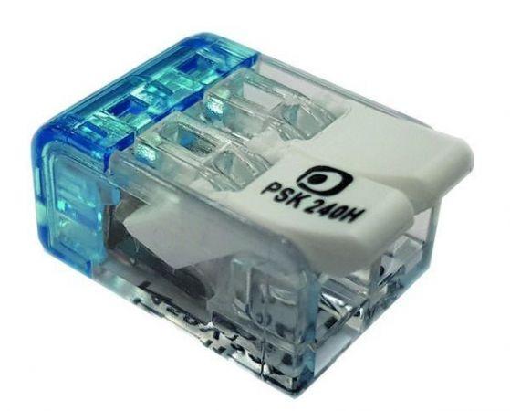 Złączka instalacyjna z dźwignią PSK 240H 2x0,2-4,0mm 055860 (opak. 100szt.) | 05105291 Protec.class