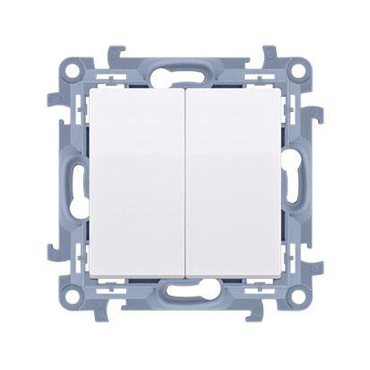 Łącznik świecznikowy (moduł) 10AX, 250V, zaciski śrubowe, biały Simon 10   CW5.01/11 Kontakt Simon