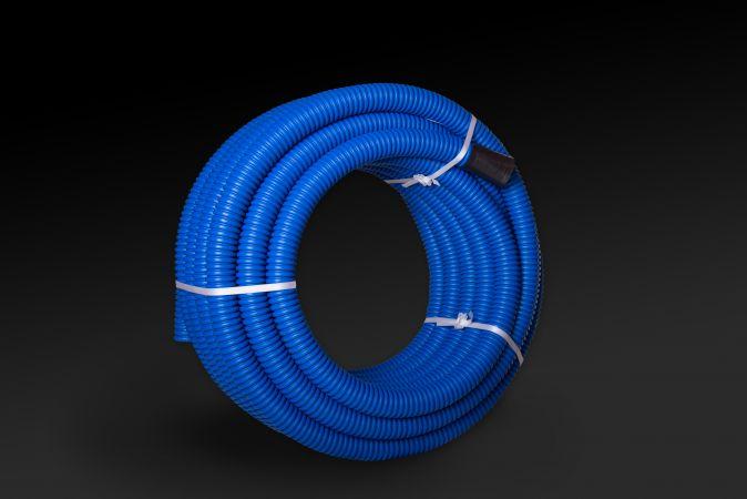 Rura karbowana dwuwarstwowa w kręgach RODK 110/95 - 50, niebieska (50m) | 10605 TT Plast