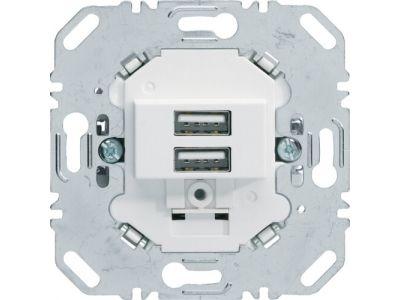 Mechanizm gniazda USB ładowania 3,0A 230V biały mat One