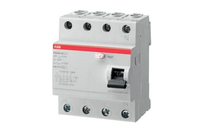 Wyłącznik różnicowo-prądowy FH204 AC-40/0,03 HOME, 4P 40A 30mA AC | 2CSF204002R1400 ABB