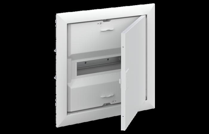 Obudowa UK612E2 p/t IP30 12M z ramką, drzwiami oraz listwami śrubowymi N+PE (zamiennik UK510E) | 2CPX077840R9999 ABB