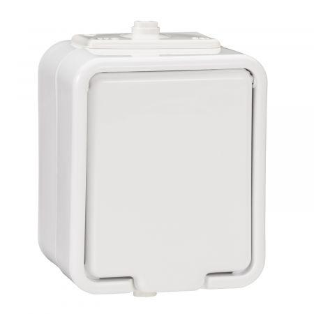 Gniazdo hermetyczne pojedyncze z/u 16A IP44 białe, Cedar   NT130H01 Schneider Electric