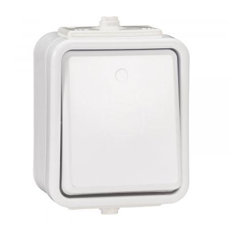 Łącznik jednobiegunowy hermetyczny IP44 10A biały WNt-100C, Cedar   WNT100C01 Schneider Electric