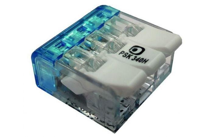 Złączka instalacyjna z dźwignią PSK 340H 3x0,2-4,0mm2 055861 (opak. 100szt.) | 05105292 Protec.class