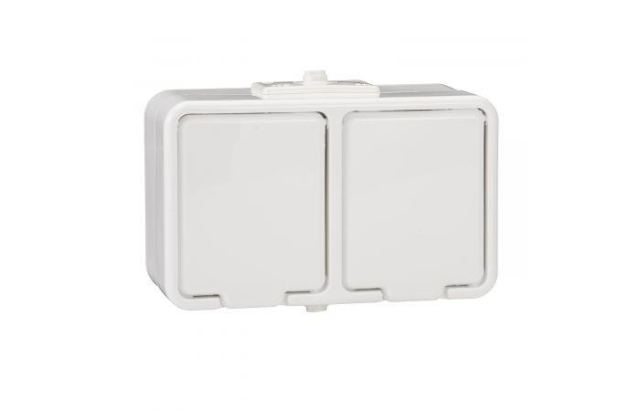 Gniazdo hermetyczne podwójne z/u 16A IP44 białe, Cedar | NT230H01 Schneider Electric
