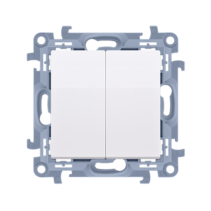Łącznik świecznikowy (moduł) 10AX, 250V, zaciski śrubowe, biały Simon 10 | CW5.01/11 Kontakt Simon