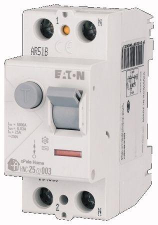 Wyłącznik różnicowoprądowy 2-bieg. HNC 25A 30mA AC, HNC-25/2/003 | 194690 Eaton